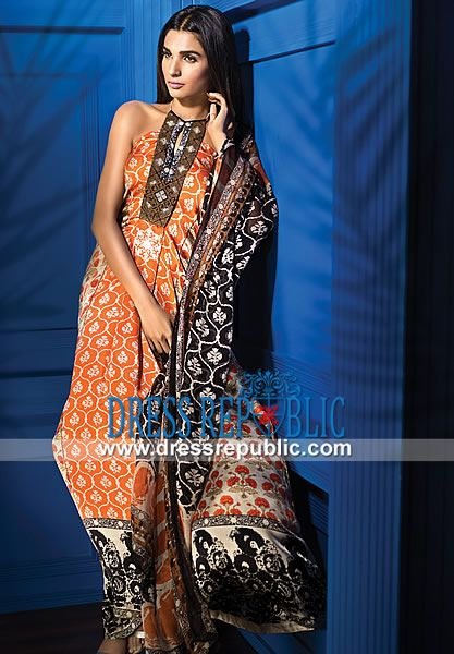 Sana Safinaz Eid Silk Collection 2014 with Price  Buy Online Sana Safinaz Silk Dresses Collection 2014 with Price for Eid ul Azha 2014. Pakistani Designer Lawn Suits in Retail and Wholesale. by www.dressrepublic.com