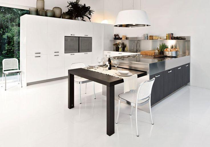 Modello di cucina moderna con penisola n.47