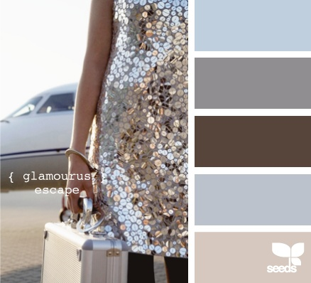 If I ever had a wedding... Love this palette. The champagne color would be my dress.