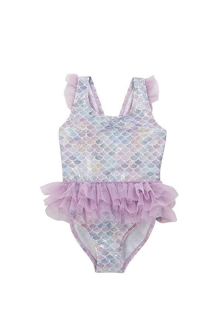 c5ad6120e0 Tesco direct: F&F Foil Mermaid Scale Tutu Swimsuit | Luna Ann Brack ...