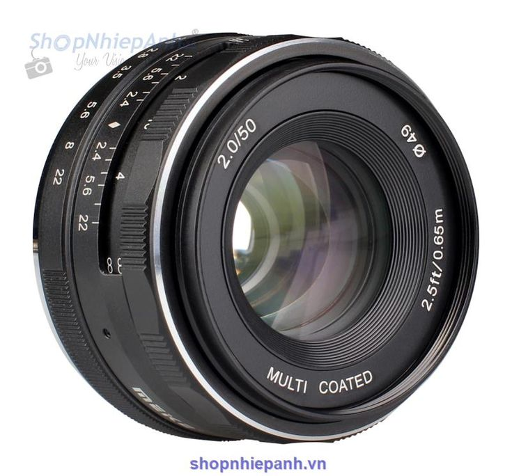 -Lens Meike 50mm F2.0 có vòng khẩu tròn với hệ thống 9 lá khẩu siêu nhỏ, khẩu độ…