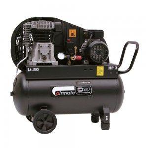 SIP Airmate TN3HP/50-SRB belt drive oil lubricated air compressor offers 8.5CFM…
