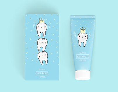 toothpaste for kids -  graphic design *Mockup designed by Qeaql-studio - Freepik.com