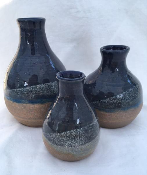 Deep Blue Vase Set