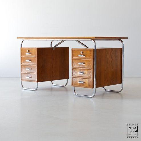 Tubular steel desk by Mücke-Melder - 1934
