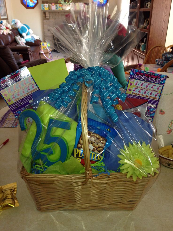 25th Birthday Basket Birthday Basket Diy Gifts 25th
