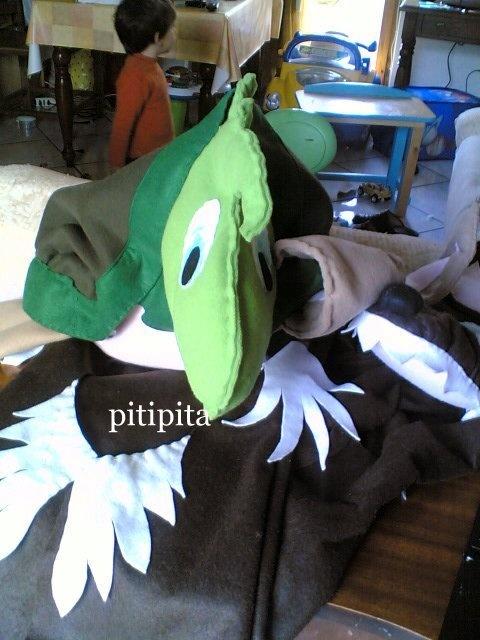 Le Favole di Esopo:maschera Tartaruga pannolenci