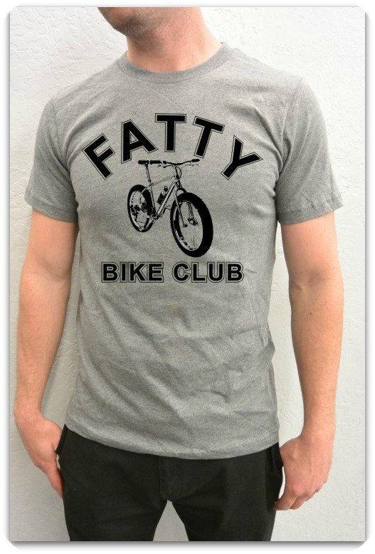 Bicycle T-Shirt -Fat Bike-Mountain Bike-Fatty Bike Club- Bike T-Shirt for Him