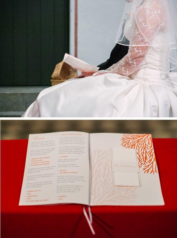 Krichenheft für eine Trauung, Maritime Hochzeit gestaltet von Irina Thiessen und Katharina Sparwasser