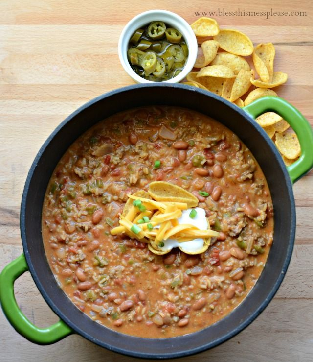 Loaded Nacho Supreme Chili | like eating nachos with a spoon and done in about 30 minutes!
