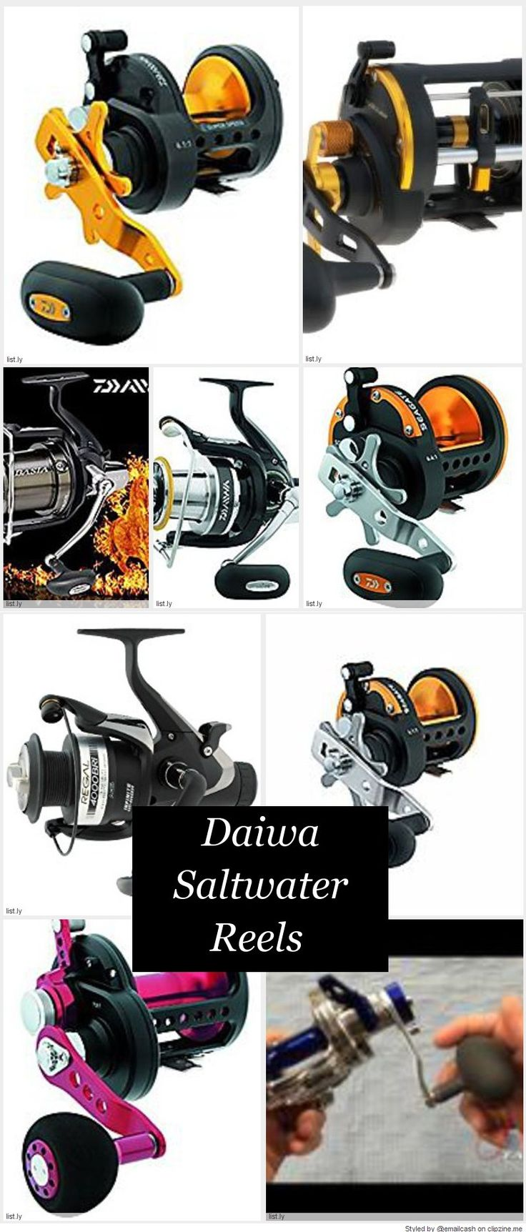 These Daiwa saltwater reels are made with a corrosion-proof composite frame and side plates. It has an aluminum spool and a centrifugal brake system. Seems to work best with with fluorocarbon or monofilament line. The Daiwa saltwater reels are the perfect reel if you fish from a boat or from a pier.