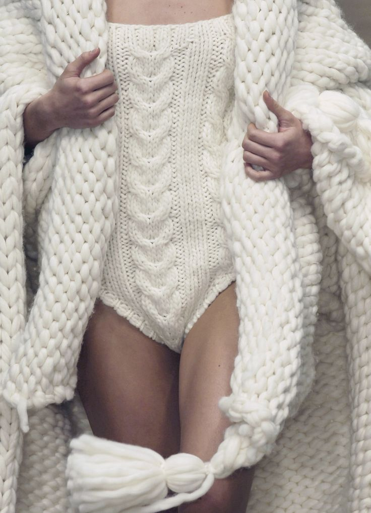Great knit lingerie for the winter. Ladies there's no reason you can't be sexy in the winter too!