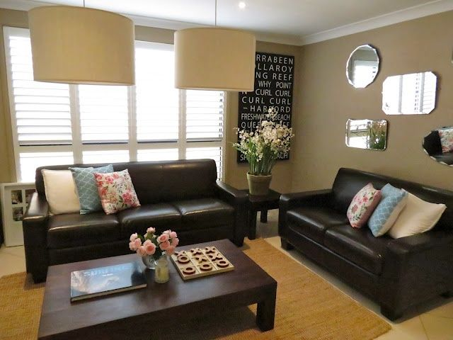 Living Room Dark Furniture Decorating Ideas Floor Vases For Singapore Love I Want A Brown Leather Couch Decor In 2019