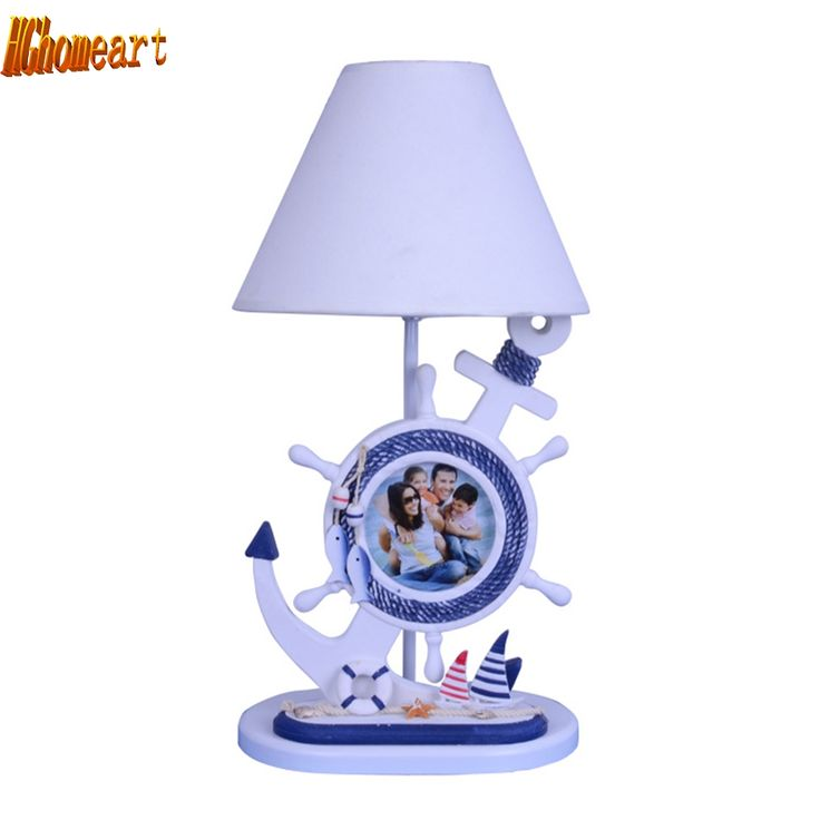 78.20$  Watch now - http://ali6bs.shopchina.info/1/go.php?t=32805968294 - HGhomeart Mediterranean Boy Bedroom Desk Led Lamp E27 110V-220V Switch Button Wooden White Desk Lamp Cartoon Reading Bed Light 78.20$ #SHOPPING