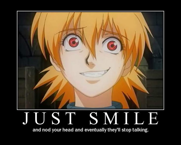 anime motivational posters   Just Smile