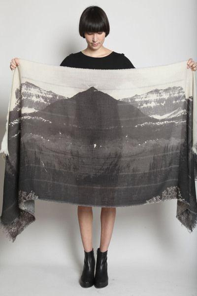 {mountain print scarf}