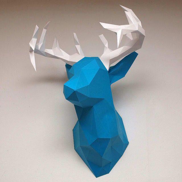 tuto origami tete de cerf