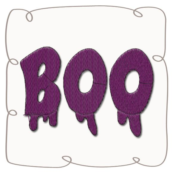 Boo Machine Embroidery Design Pattern-INSTANT DOWNLOAD