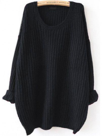 Jersey texturado con hombro caído - negro