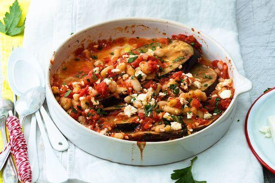 Das Rezept für Auberginenauflauf mit Feta mit allen nötigen Zutaten und der einfachsten Zubereitung - gesund kochen mit FIT FOR FUN
