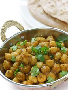 Curry de pois chiches au lait de coco - Recette de cuisine Marmiton : une recette