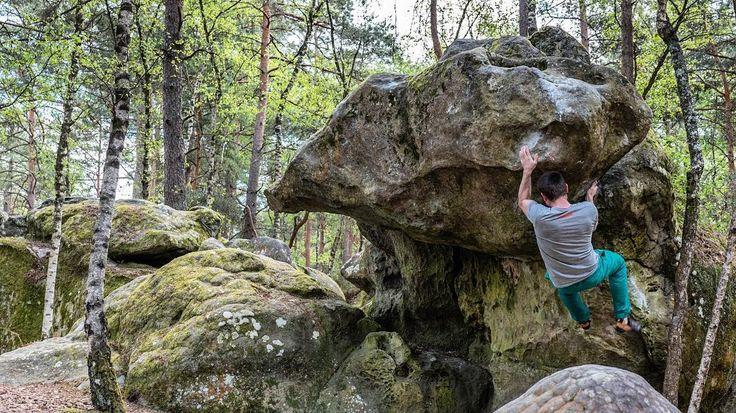 Bleau - Grandiose 6c (?)  @ast6000 . #fsthltn #bleau #bouldering