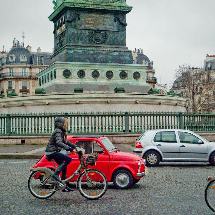 Tiny Car in Paris at the Bastille