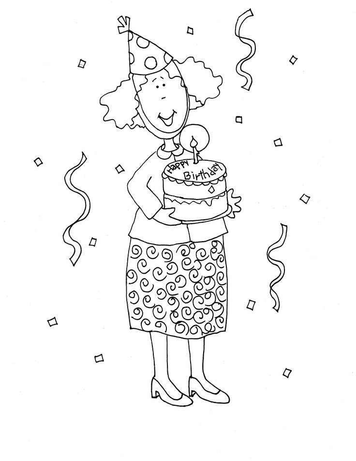 Happy Birthday Dearie | Dearie Dolls Digi Stamps