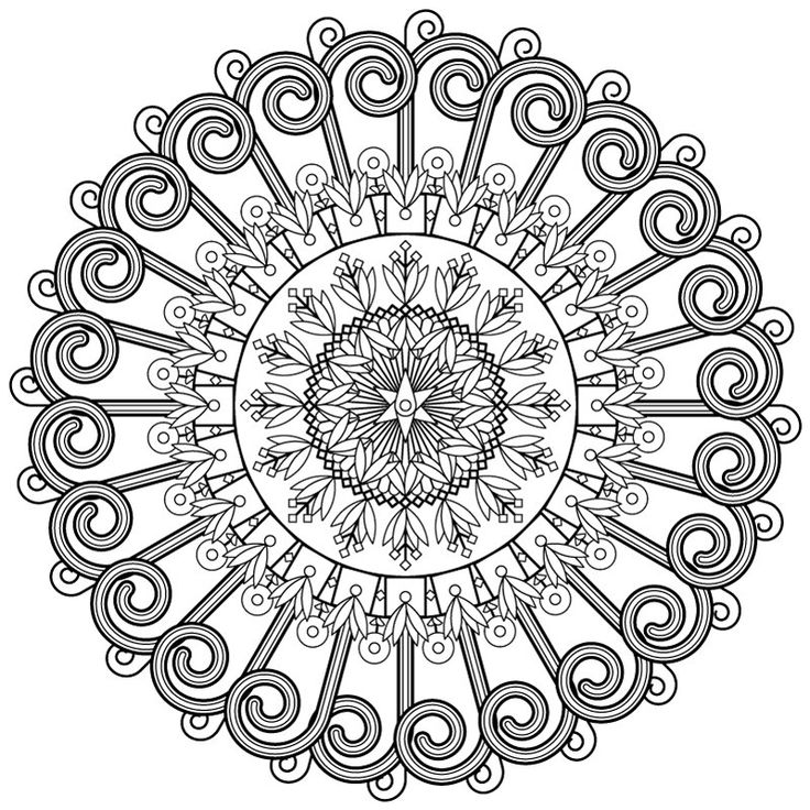 Floral coloring page Snowtime / Adult coloring page by FondBlanc