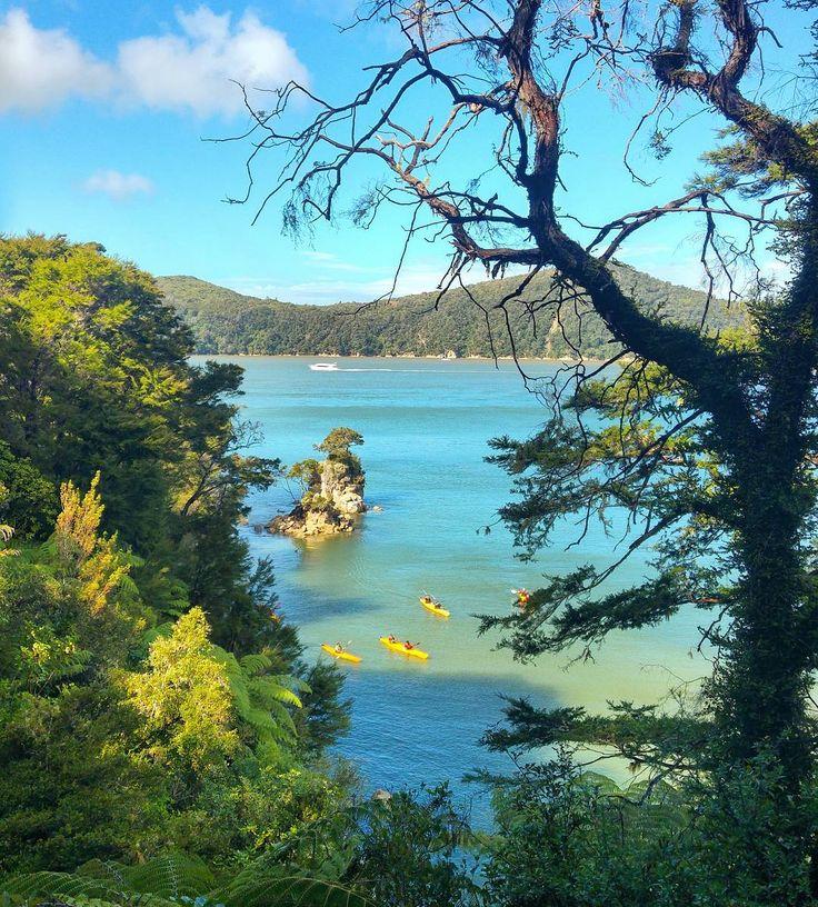 Ontem foi dia de conhecermos um dos lugares mais lindos românticos e paradisíacos da Nova Zelândia: Abel Tasman National Park!  No período da manhã fizemos um passeio de barco com a empresa  Abel Tasman Sea Shuttle que nos mostrou os principais pontos do parque nacional. Ao meio dia desembarcamos em Apple Tree Bay onde começamos a nossa caminhada de 7 km pela mata até Anchorage. Ao longo do trajeto paramos para curtir a vista que foi incrível. Ao final do dia fomos pegos em Anchorage pelo…