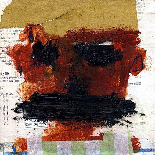 """face"" mixed media on canvas 20x20cm | 2014"
