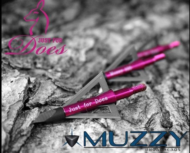 Muzzy Just for Does Signature Series Broadhesds www.justfordoes.comHunting Fish, Huntin Seasons, Bows Shoots, Bows Huntress, Hunting Seasons, Girls Hunting, Archery Hunting, Mathew Bows, Archery Bows Hunting