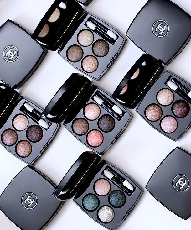 Chanel Les 4 Ombres Quadra Eyeshadows in Tissé Vendôme, Tissé Vénitien, Tissé Poésie, Tissé Rivoli, Tissé Mademoiselle and Tissé Poésie