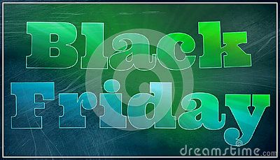 Illustration with colored graphic text black friday on a dark background