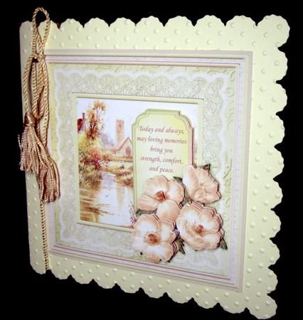 SYMPATHY SEPIA POPPIES Card Topper Decoupage on Craftsuprint designed by Janet Briggs - made by Dianne Jackson