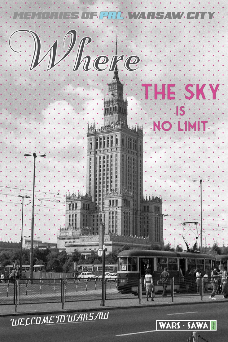Where the sky is no limit! Postcard by Wars Sawa Design, Warszawa, Warsaw, Memories of PRL.