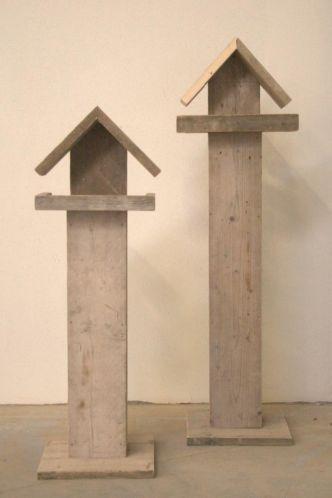 Steigerhouten vogelhuisje