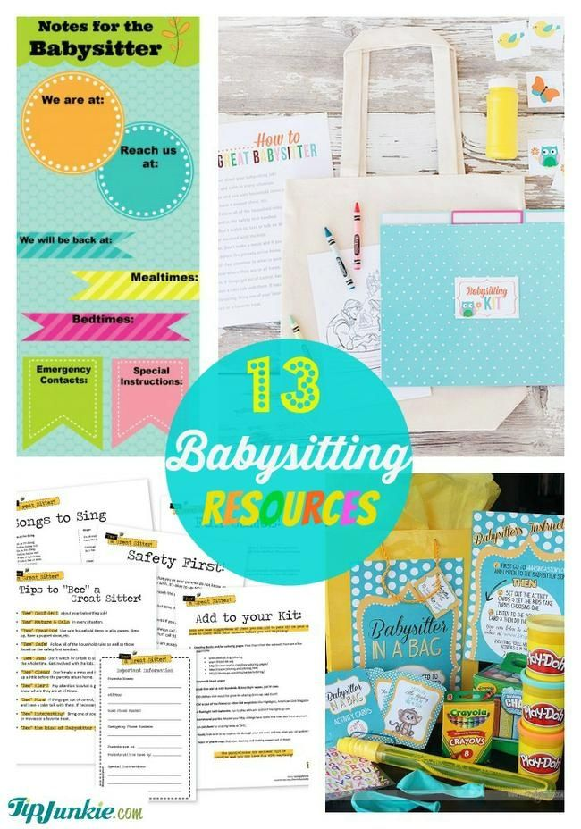 Do you have a child who's eager to start their own babysitting services?  Or, are you tired of writing down the same information each time you have a babysitter? Use these free babysitting resources to write down all the important information your babysitter will need while you're out.  {{high fives}}