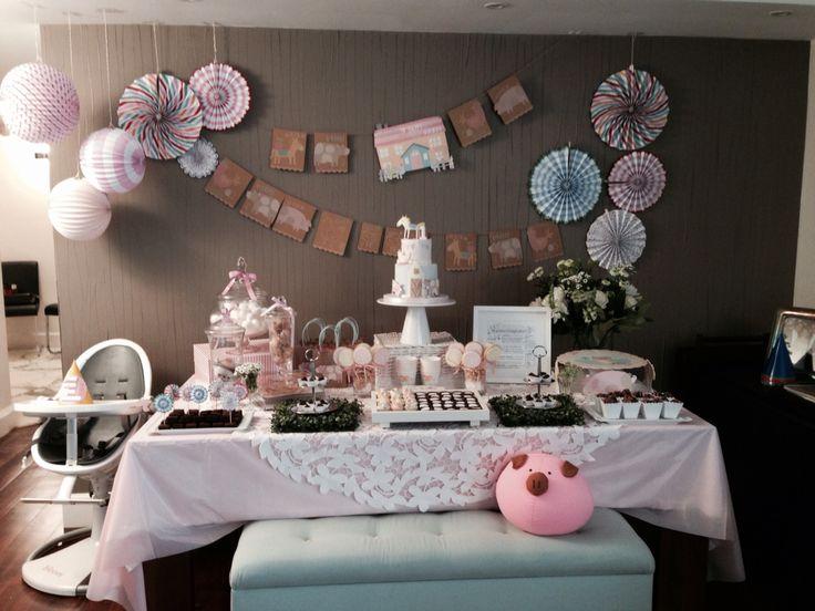 Table decoration the happy little farm, miranda's first birthday by Mama Karelin