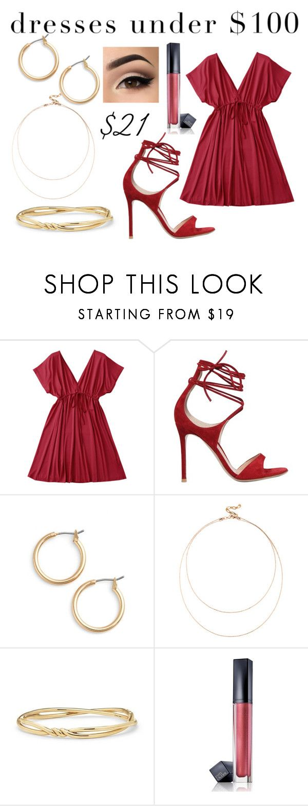 """Red dress"" by rainy-dayze ❤ liked on Polyvore featuring Gianvito Rossi, Nordstrom, Sole Society, David Yurman and Estée Lauder"