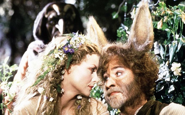 Titania and Bottom from A Midsummer Night's Dream (1999) Michelle Pfeiffer as Titania and Kevin Kline as Bottom the Weaver