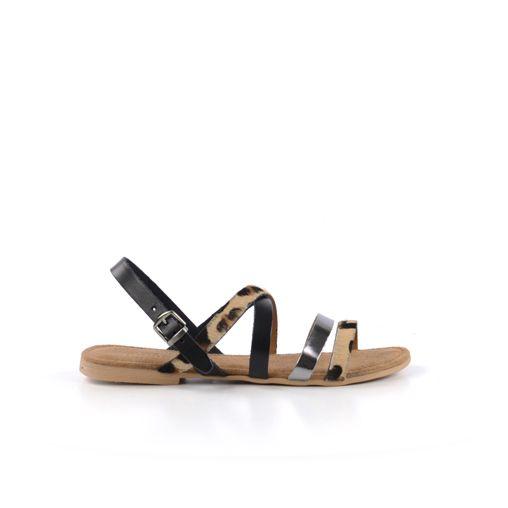 Luipaard sandalen - zwart // sandalen // SACHA
