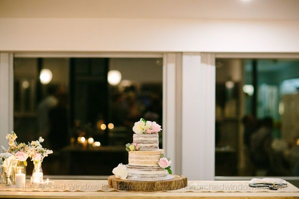 gorgeous naked cake by Cute Sweet Things. wedding at Babalou in Kingscliff NSW. Photography by The Arched Window.