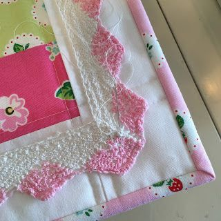 Sample quilt  in Calico Days by Lori Holt for Riley Blake Designs.  Sample quilt  in Strawberry Biscuit by Elea Lutz for Penny Rose Fabrics...
