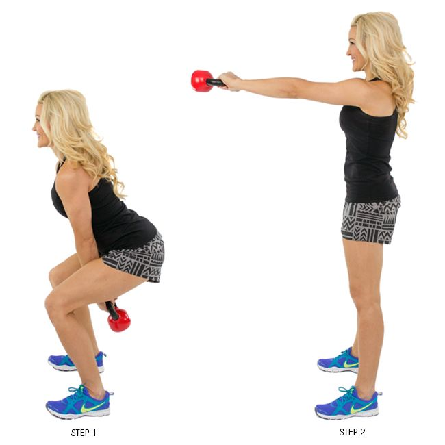 Skinny Mom Founder/CEO, Brooke, LOVES to workout with a kettlebell! Check out this kettlebell circuit!