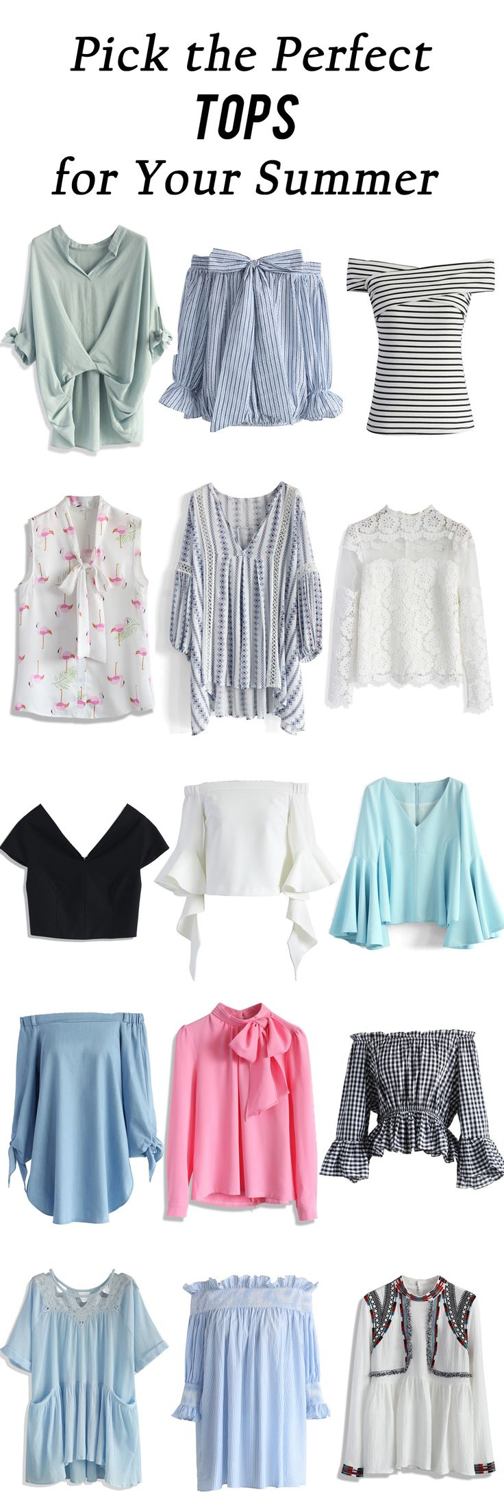 Pick the perfect tops for your summer   chicwish.com