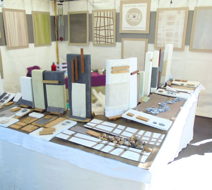 Setting up a jewelry display for a craft show, Handcrafted Jewels by Dendesign