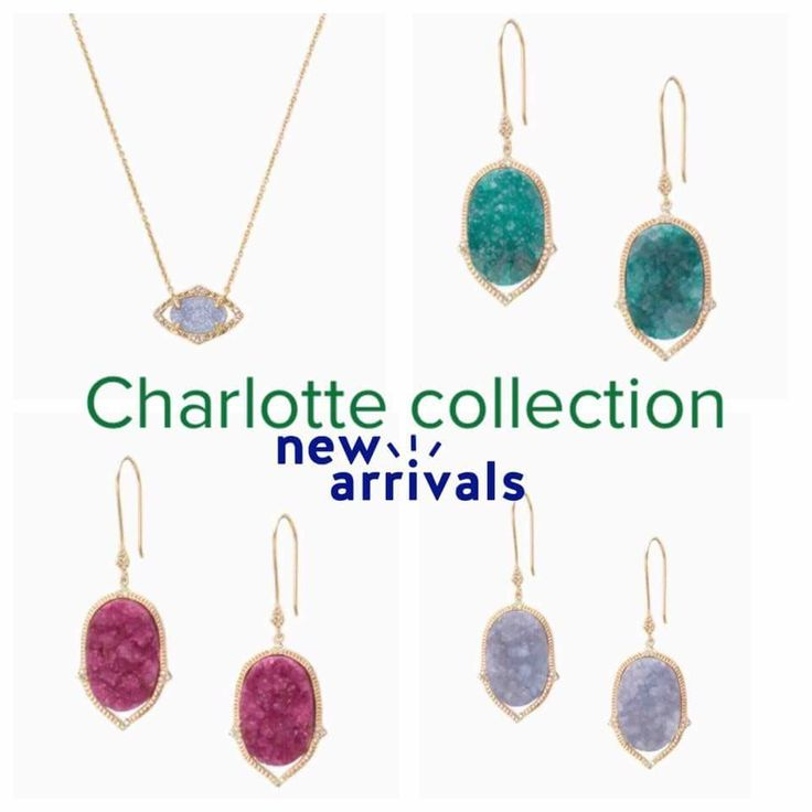 Our ever popular DRUZY collection just got even better. Now with more colors and we have even added a necklace to complete the look!