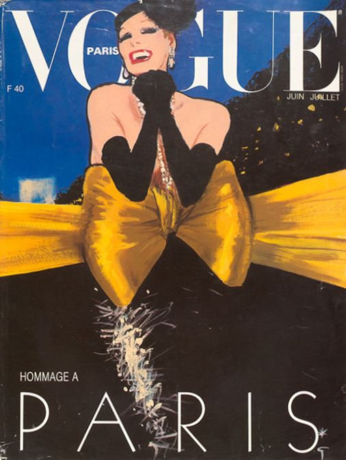 Vogue Paris - June/July 1985 - illustration by Rene Gruau