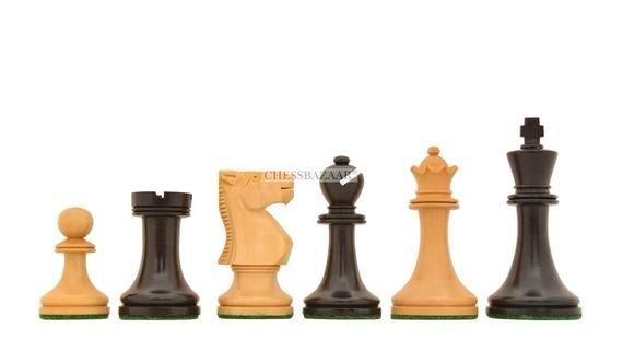 Old Vintage English Staunton Series Chess Pieces in Dyed wood, Staunton Chess Set, Wooden Board Game   – Products